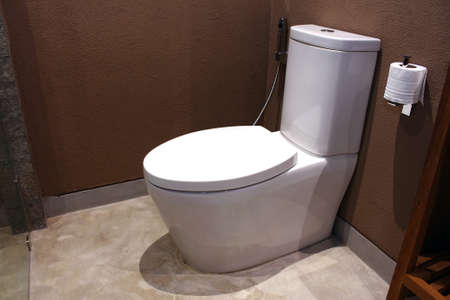 View of modern toilet in Hotel