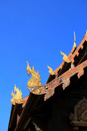 Gable apex in temple roof, Thailand