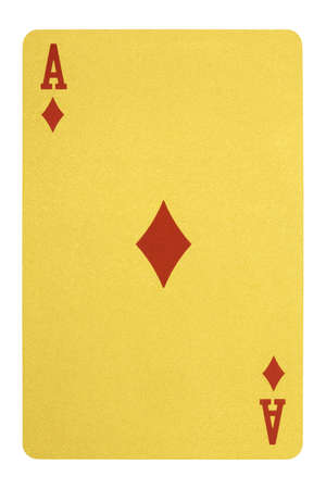 Golden playing cards, Ace of diamonds