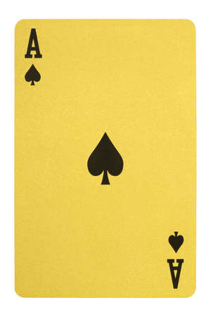 Golden playing cards, Ace of spades