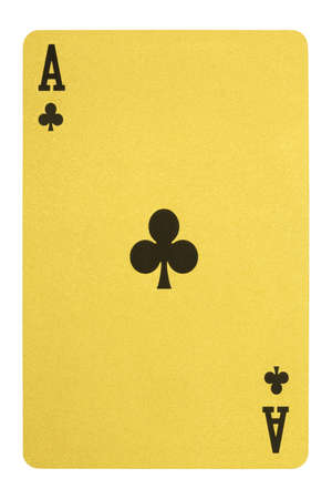 Golden playing cards, Ace of clubs Stock Photo