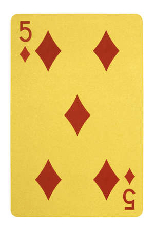 Golden playing cards, Five of diamonds