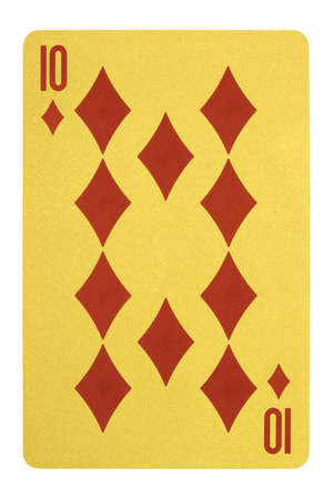 Golden playing cards, Ten of diamonds