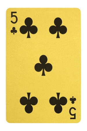 Golden playing cards, Five of clubs