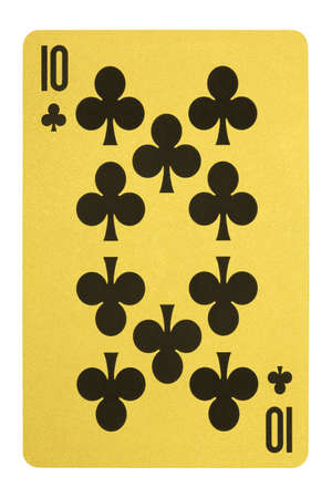Golden playing cards, Ten of clubs Stock Photo