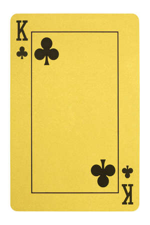 Golden playing cards, King of clubs Stock Photo