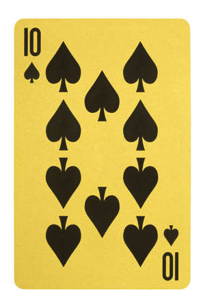 Golden playing cards, Ten of spades Stock Photo