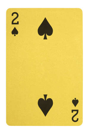 Golden playing cards, Two of spades