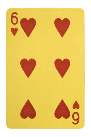 Golden playing cards, Six of hearts