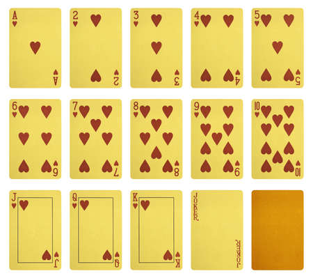 Golden playing cards, Combination of hearts