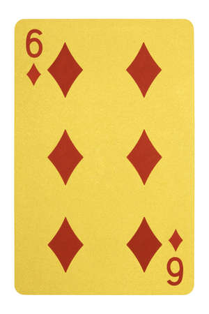 Golden playing cards, Six of diamonds