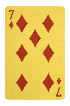 Golden playing cards, Seven of diamonds