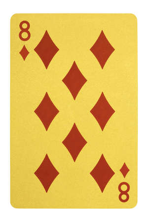 Golden playing cards, Eight of diamonds