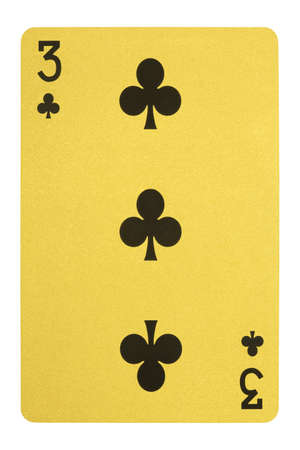 Golden playing cards, Three of clubs