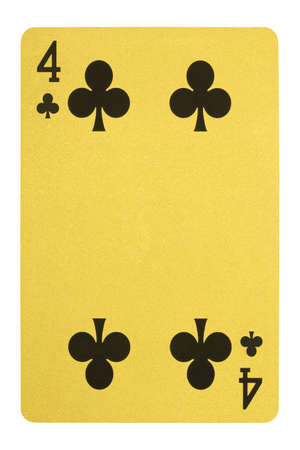 Golden playing cards, Four of clubs