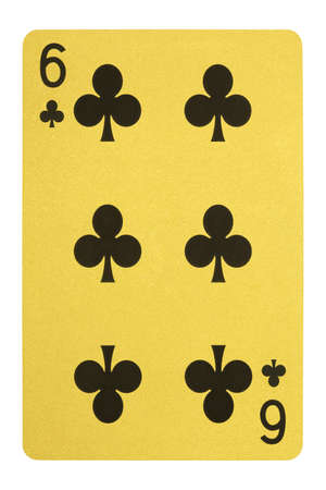 Golden playing cards, Six of clubs