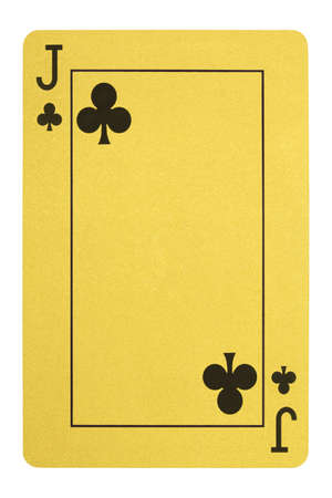 Golden playing cards, Jack of clubs
