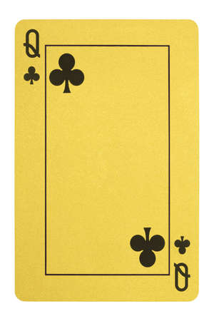 Golden playing cards, Queen of clubs