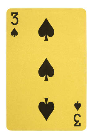 Golden playing cards, Three of spades