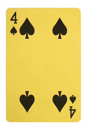 Golden playing cards, Four of spades