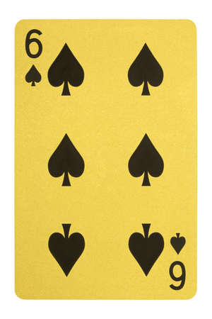 Golden playing cards, Six of spades