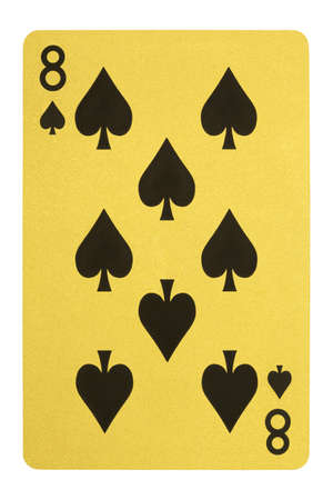 Golden playing cards, Eight of spades