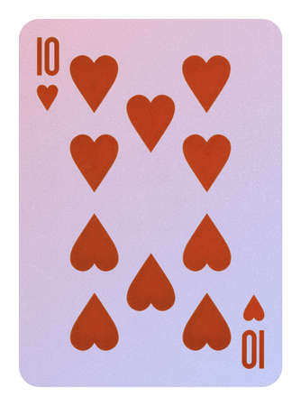 Playing cards, Ten of hearts