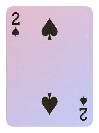 Playing cards, Two of spades