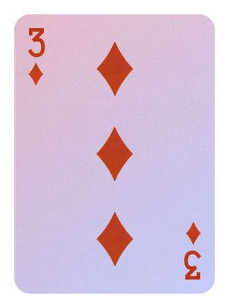 Playing cards, Three of diamonds