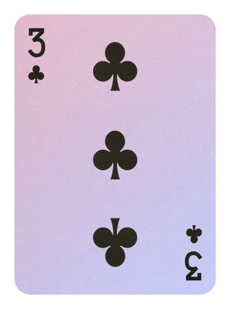 Playing cards, Three of clubs Stock Photo