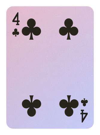 Playing cards, Four of clubs