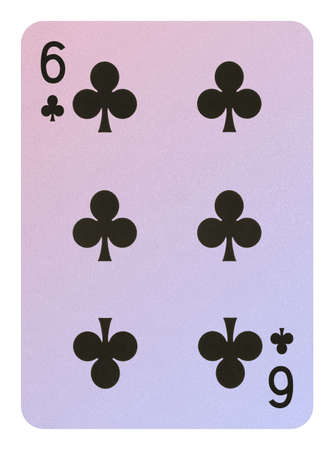 Playing cards, Six of clubs