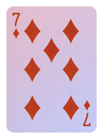 Playing cards, Seven of diamonds