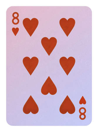 Playing cards, Eight of hearts