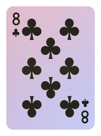 Playing cards, Eight of clubs Stock Photo