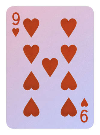 Playing cards, Nine of hearts