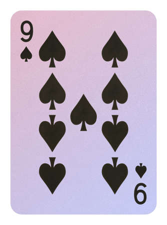 Playing cards, Nine of spades