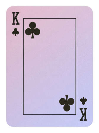 Playing cards, King of clubs
