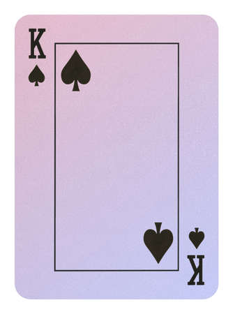 Playing cards, King of spades