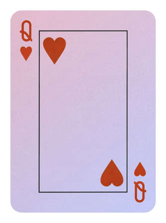 Playing cards, Queen of hearts