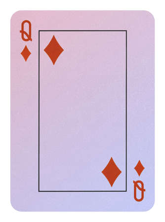 Playing cards, Queen of diamonds Stock Photo