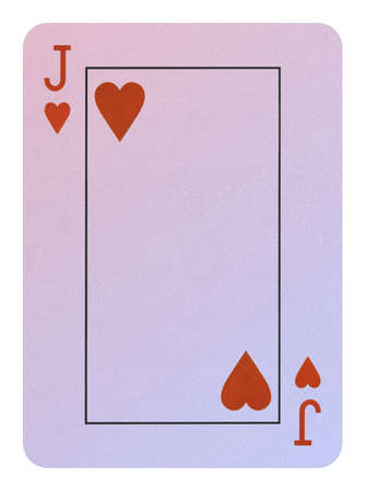 Playing cards, Jack of hearts Stock Photo