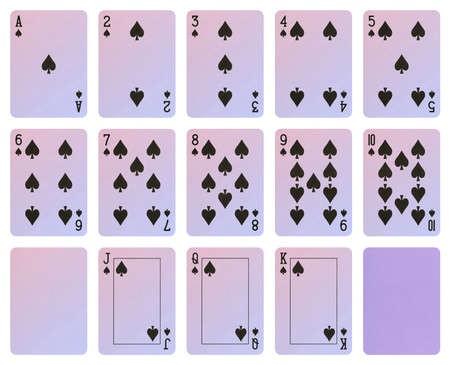 Playing cards - Spade suit Stock Photo