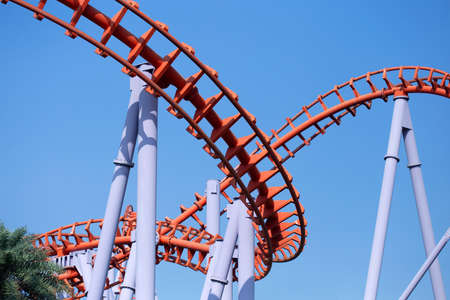 Roller coaster with blue sky Stock Photo - 103596705