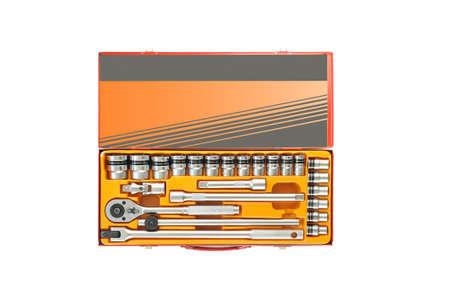 handtools: socket wrench set Stock Photo