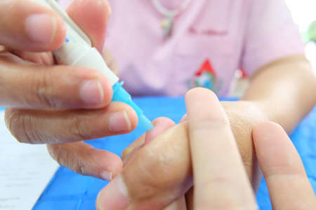 blood is tested before donation Stock Photo