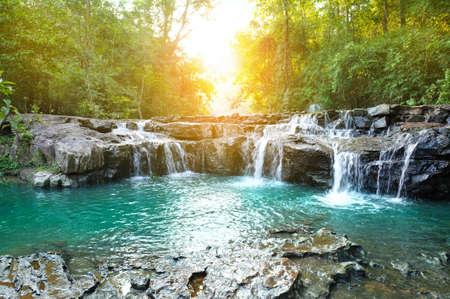 water fall: beautiful water fall in thailand Stock Photo