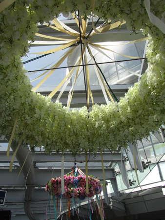 festones: Shiny Los adornos dulces de Festival de San Valent�n, Bangkok Editorial