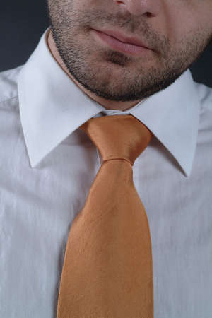 man with yellow tie photo
