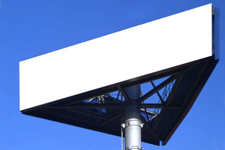 constrution: a three-cornered sign and blue sky